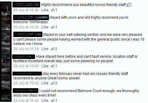 Dealing with negative online reviews on Facebook
