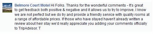 Dealing with negative TripAdvisor Reviews