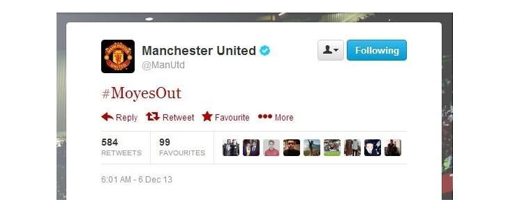 Man Utd Twitter account hacked