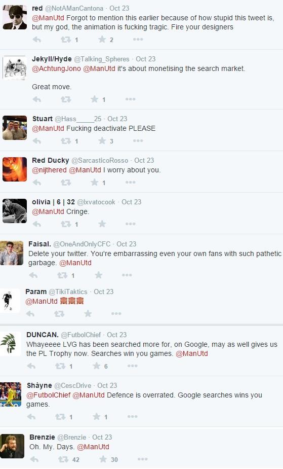 Twitter backlash to Man Utd vs Chelsea tweet