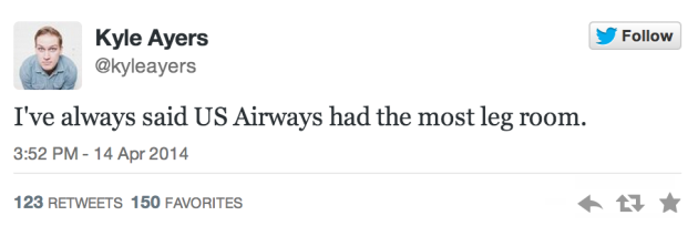 Funny tweet in response to US Airways Twitter gaffe