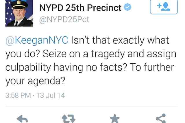 NYPD tweet from Thomas Harnisch