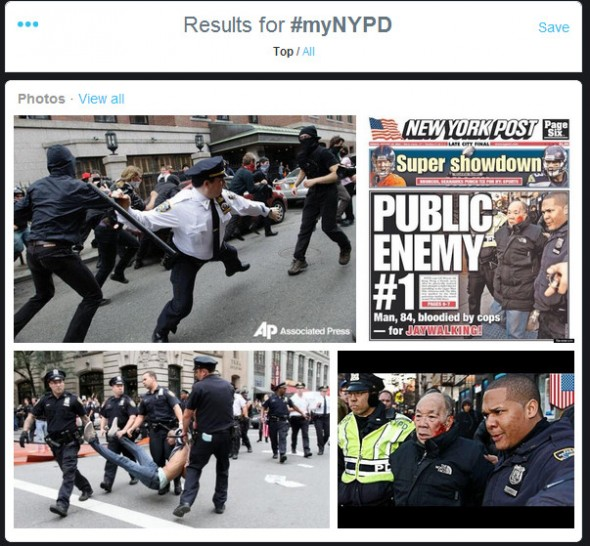 Twitter images #myNYPD PR crisis