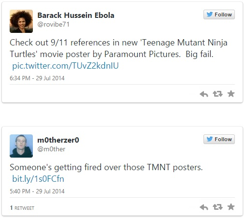 Twitter response to Teenage Mutant Ninja Turtles tweet